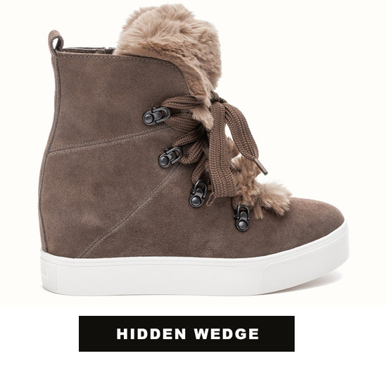 JSlides WHITNEY Taupe Suede