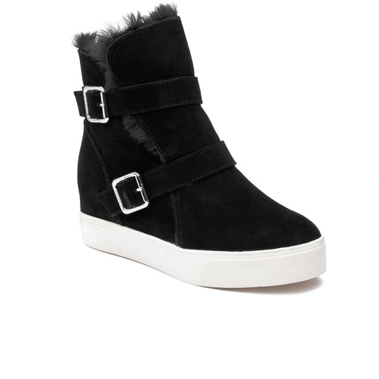 JSlides WELLS Black Suede