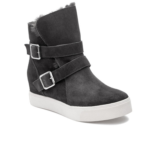 JSlides WELLS Dark Grey Suede