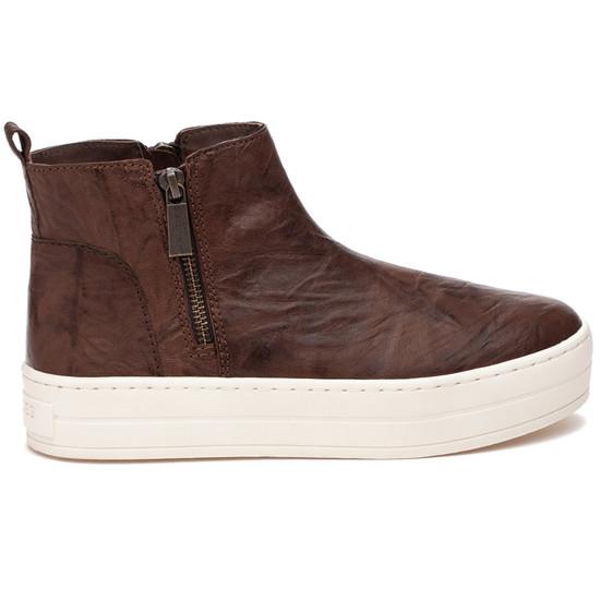 JSlides HISLE Brown Distressed Leather