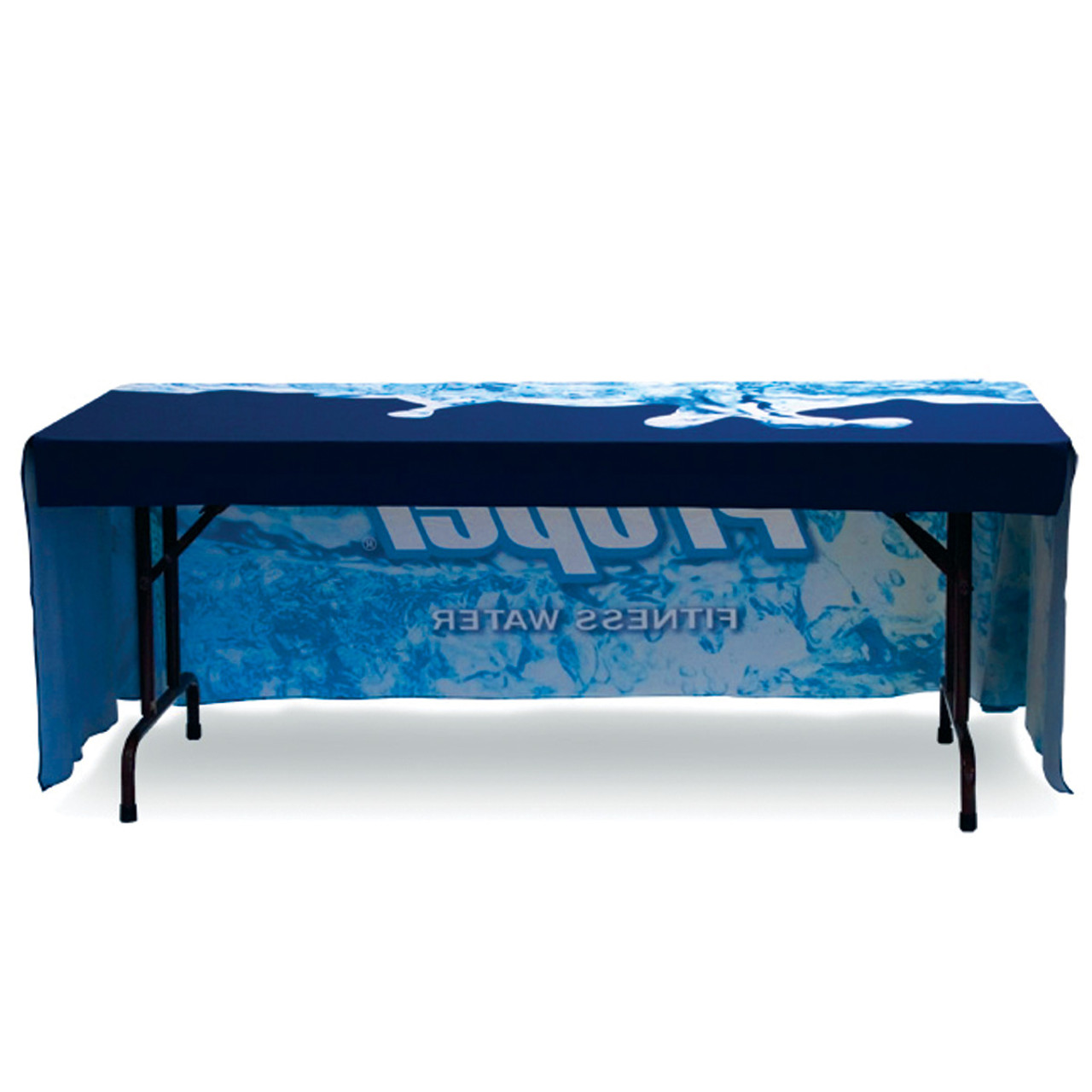 6 ft table throw side view 3 sided