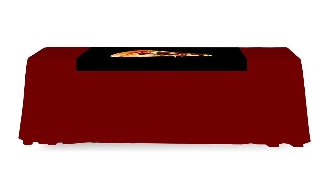 Table Runner 4 Ft. Backless Dye Sub Print  Back Side