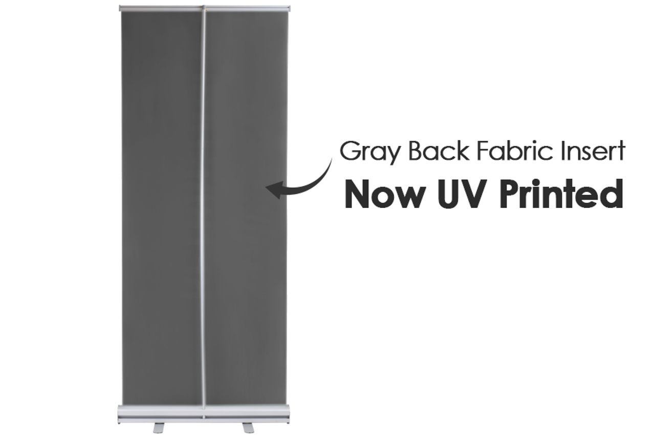 Retractable Banner Stand 33 in x 81 in with printed graphic