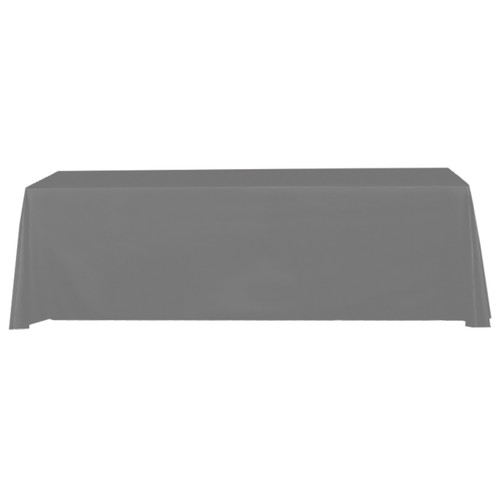 Gray 8 ft table throw stock solid color