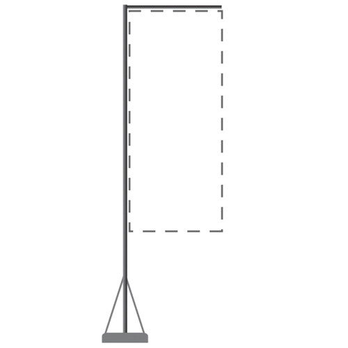 Mondo Flagpole 13 Ft. (Stand & Base Only)