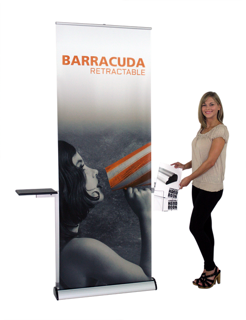 Showroom Sample Image Barracuda Retractable Banner Stand Display