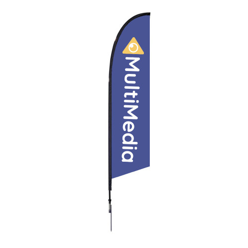 Falcon Flag - Medium 10.5' Spike Base Single-Sided Graphic Package