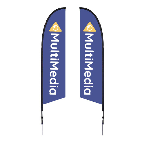 Falcon Flag - Medium 10.5' Spike Base Double-Sided Graphic Package