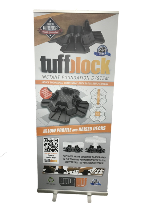 QuickRoll Quick Roll up banner stand. Great option. Ships next business day. Free ground shipping