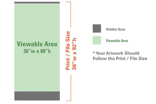 Silver Display Retractable 36 x 92