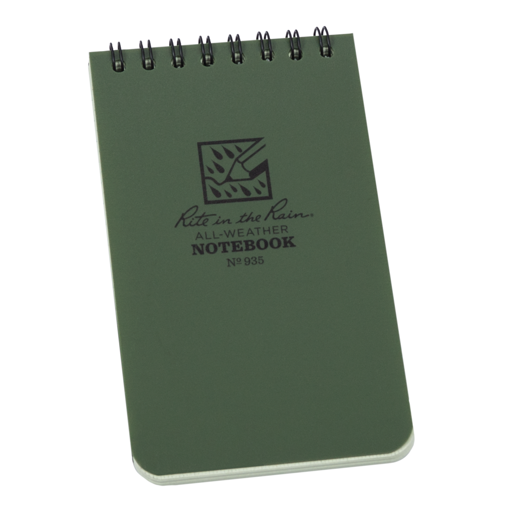 Front of Green Pocket Notebook