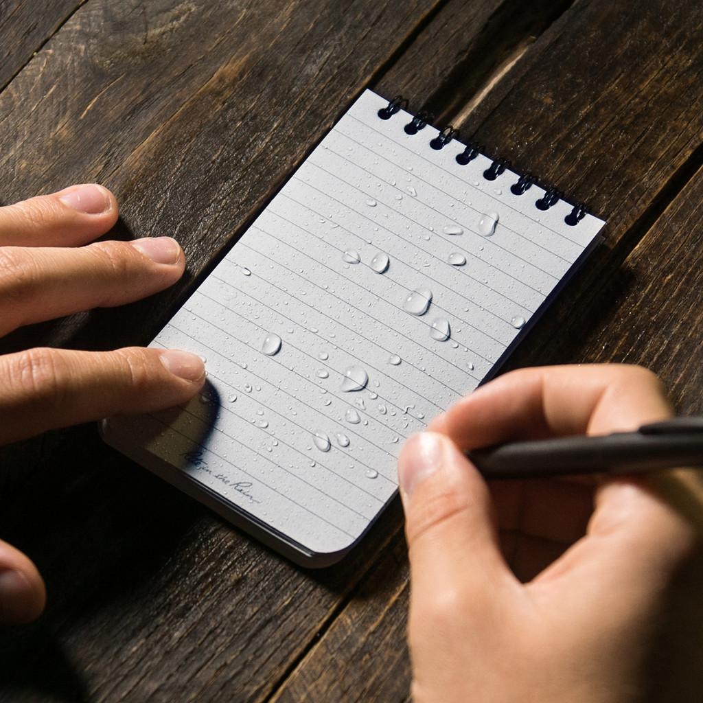 Black Pocket Notebook in Action
