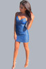 Short glitter blue from dress - front image