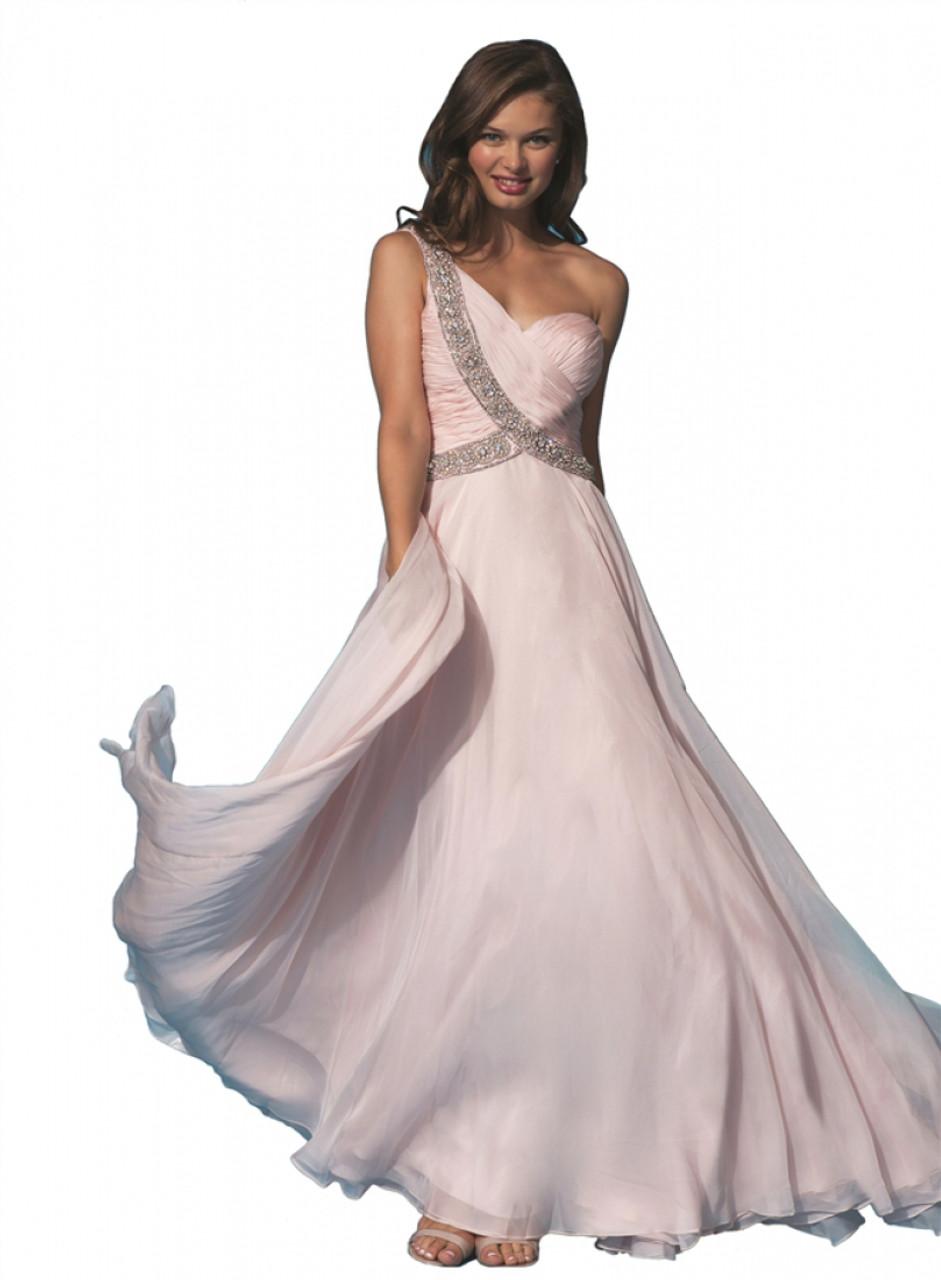 Jovani 6919 - One strap long dress