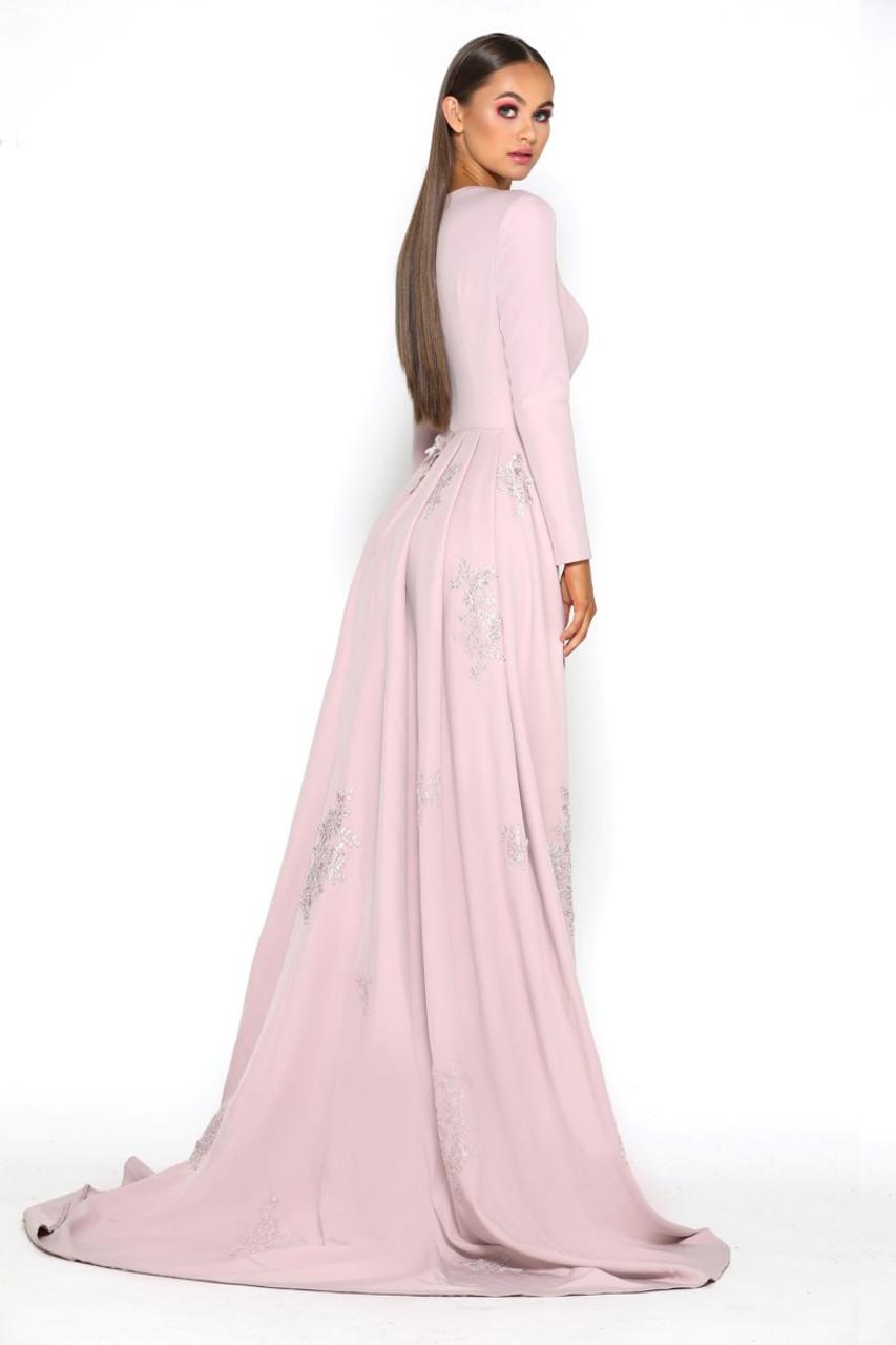 Portia & Scarlett Endora Gown Long Sleeves - B Chic Fashions