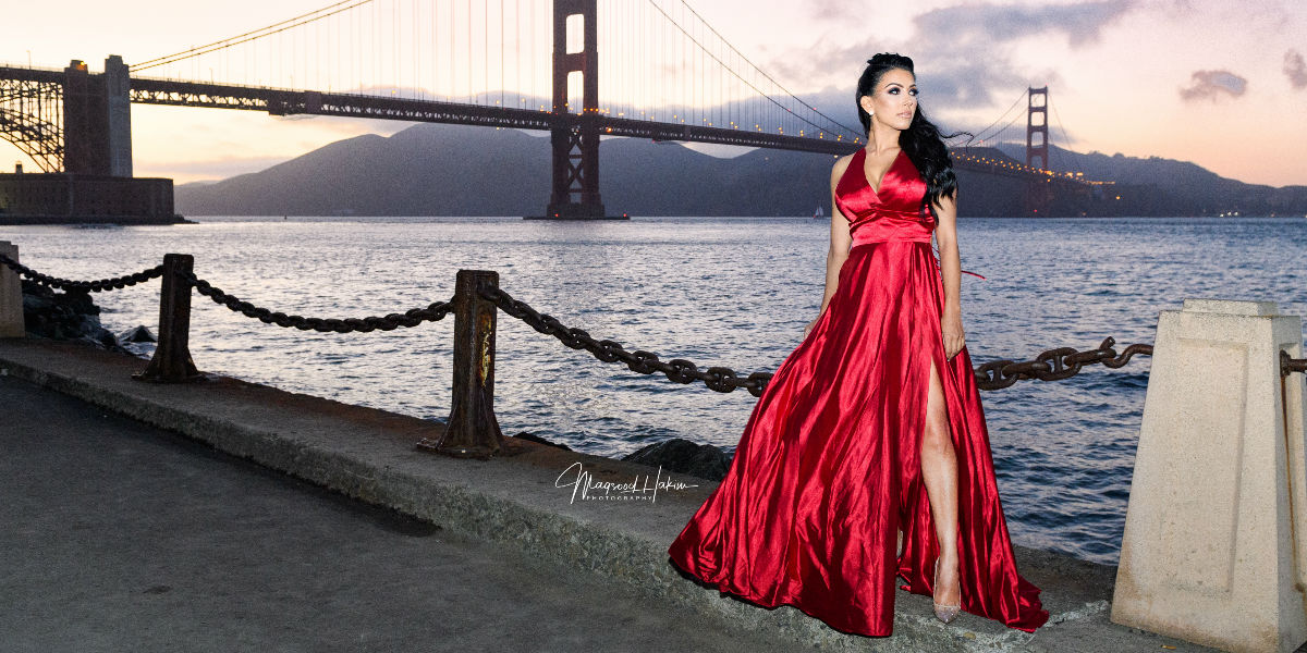 Long dress satin Gown with slit