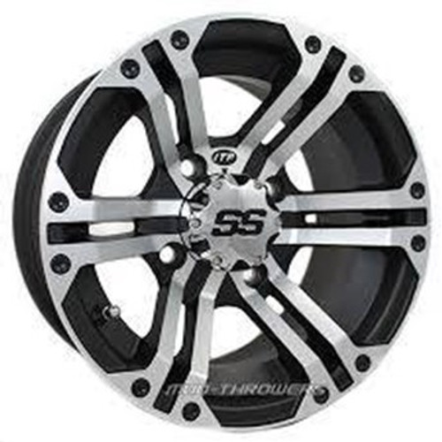 FREE SHIPPING**SET OF 4** Strong, light and distinctively different. Heavy duty 14-inch side-by-side UTV applications rated at 800 lbs! Matching SS wheel cap is included.