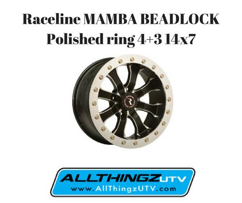 Raceline MAMBA BEADLOCK Polished ring 4+3 14x7