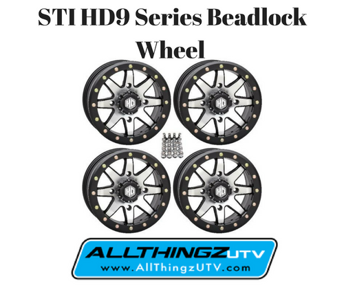 STI HD9 Series Beadlock Wheel 14X7 4/156 (5+2) offset (Machined) SET OF 4