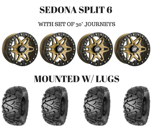 "PACKAGE DEAL -SEDONA SPLIT 6 BRONZE EDITION 14X7 W/30"" JOURNEYS"