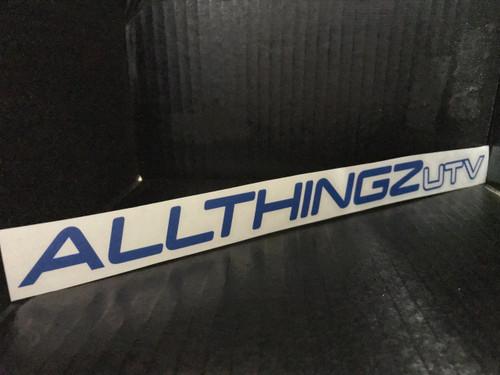 """""""AllThingzUTV"""" vinyl"""