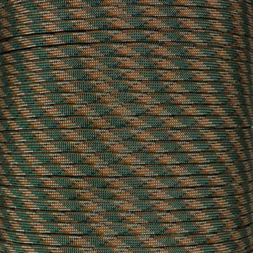 Woodland Camo Pattern 650 Coreless Paracord - 100 Feet