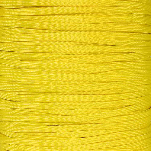 Yellow 650 Coreless Paracord - 100 Feet