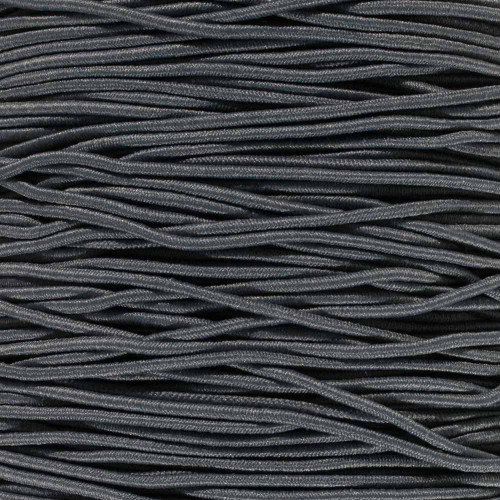 Charcoal Gray - 1/16 inch Elastic Cord