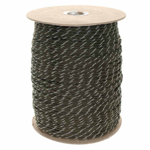 Glow in The Dark Olive Drab - 550 Paracord - Spools