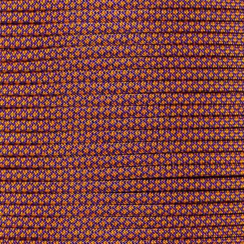 Acid Purple with Goldenrod Diamonds - 550 Paracord - 100ft