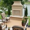 Petite Cordova Outdoor Fireplace