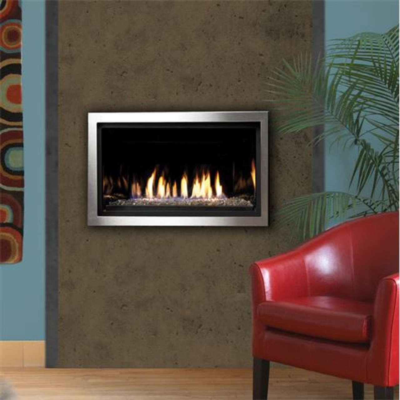 "Kingsman 36"" Linear Gas Fireplace IPI ( Electronic Ignition ) ZCVRB3622NE"