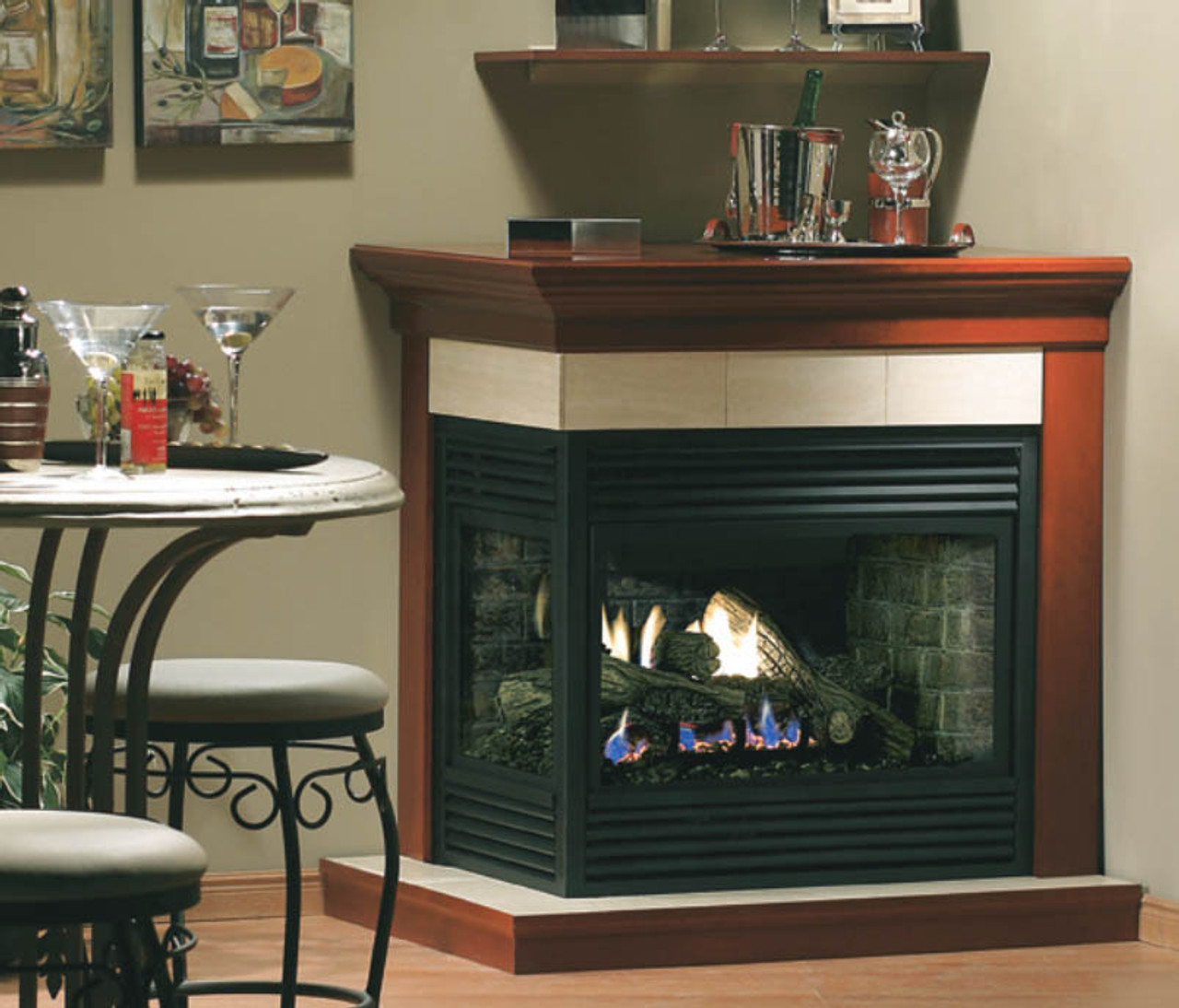 monessen beachcomber hearth gas set vent fireplace log sets free