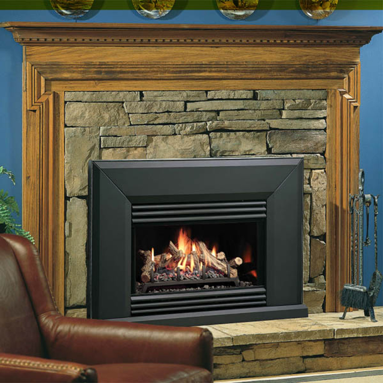 Kingsman VFI25 Vented Gas Fireplace Insert