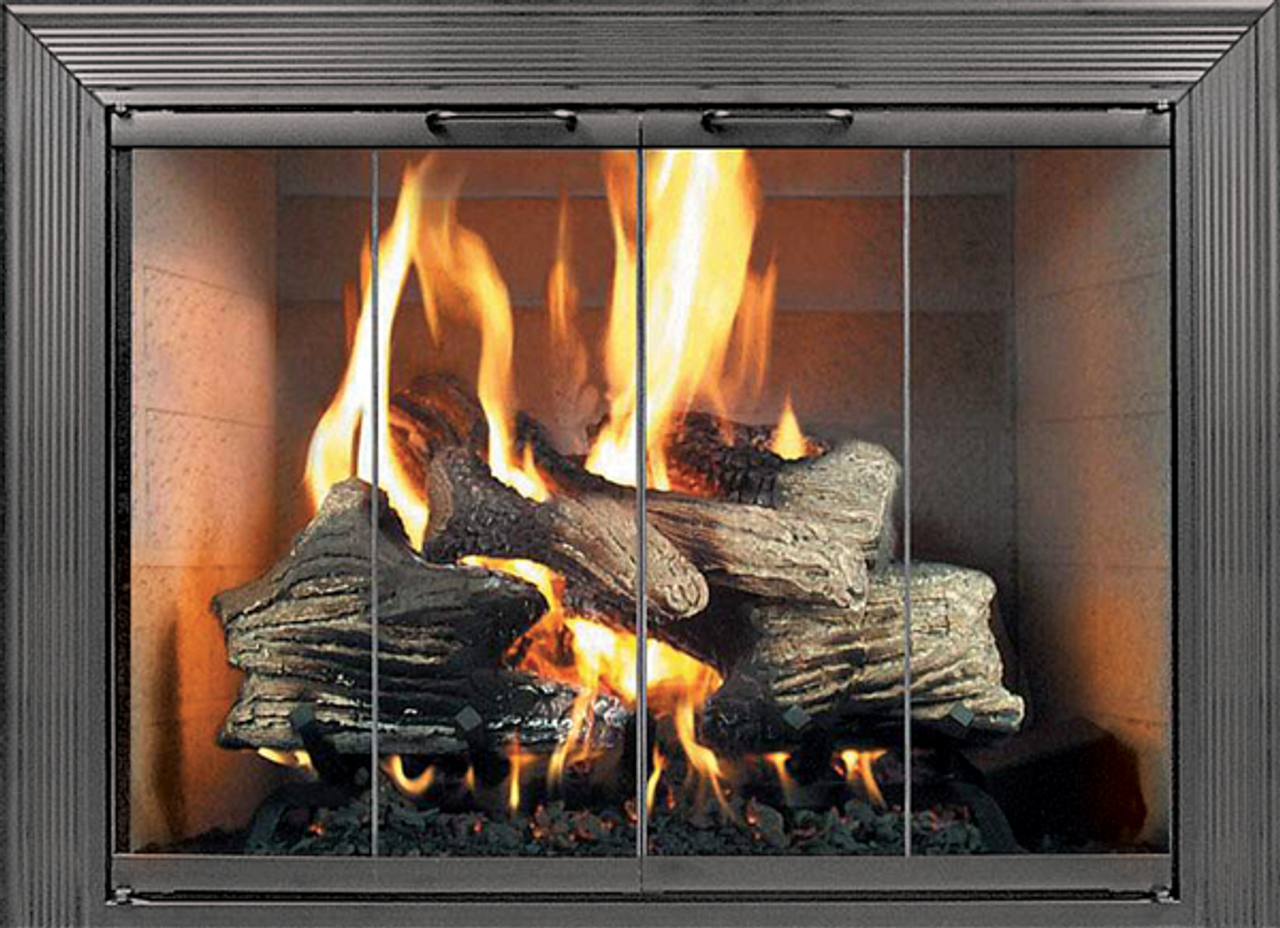 Thermo Rite Decor Glass Fireplace Door