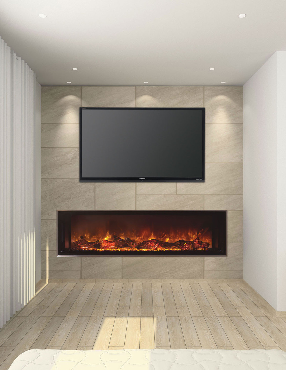 linear electric fireplace. MODERN FLAMES LANDSCAPE 80\ Linear Electric Fireplace FIREPLACESRUS