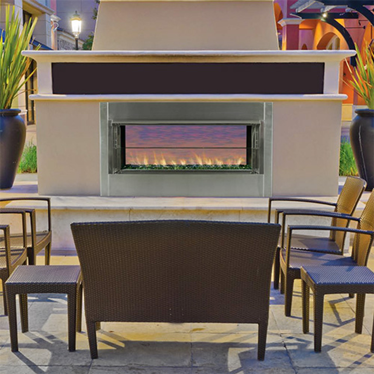 SUPERIOR VRE 4500 LINEAR OUTDOOR GAS FIREPLACE VENT FREE