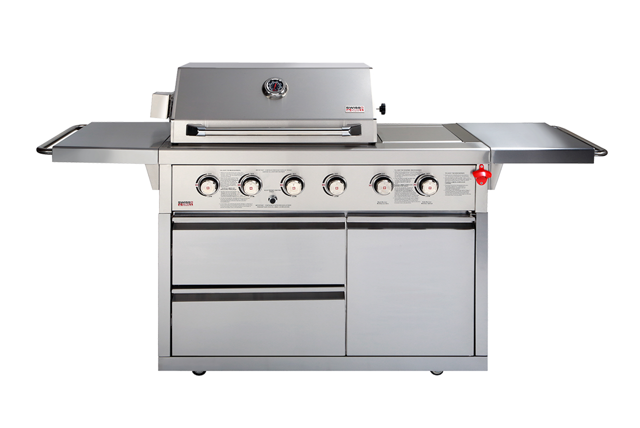 SWISS GRILLS ZURICH 46OD STAINLESS STEEL 4 BURNER GRILL WITH ...