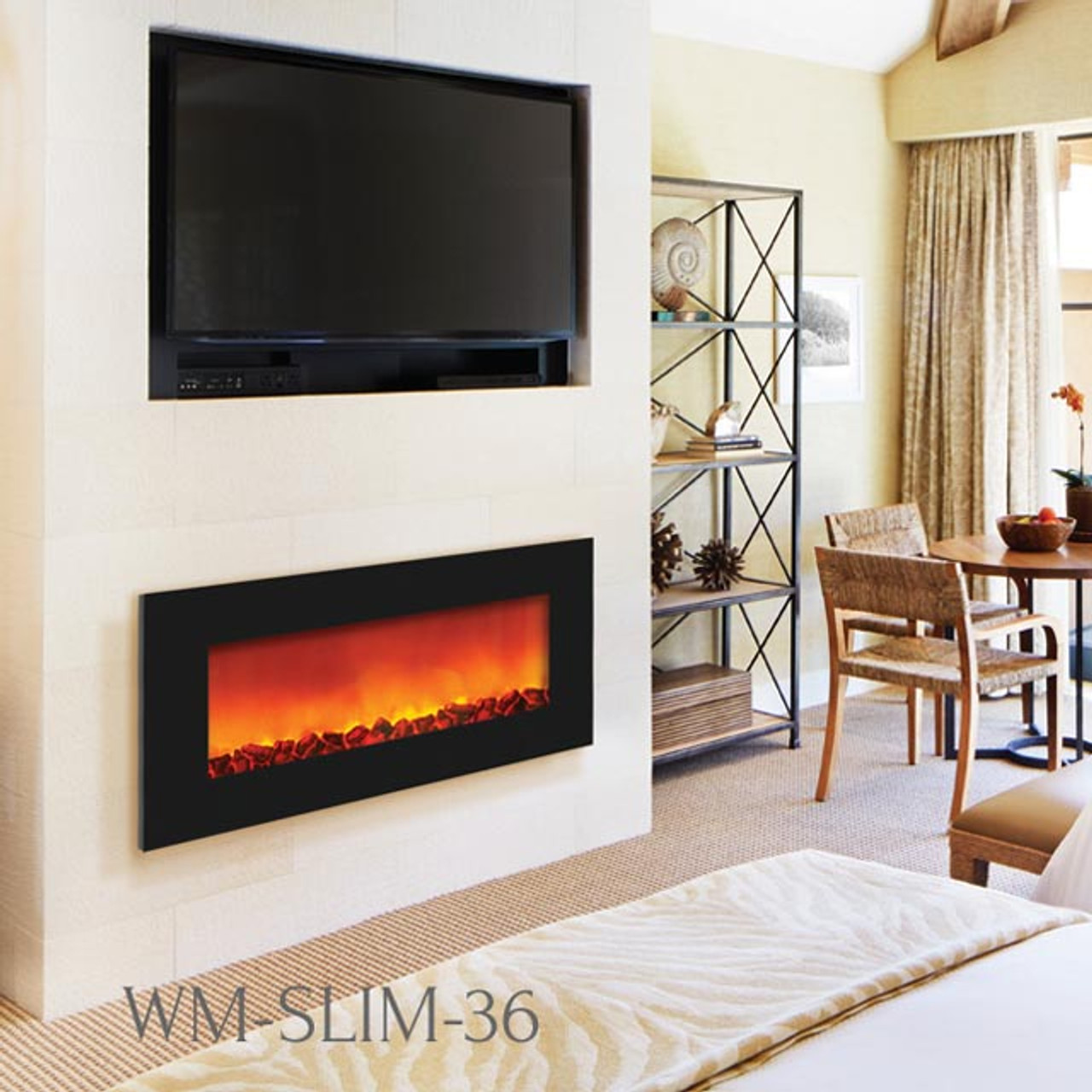 DISCOUNT SIERRA FLAME SLIM WALL MOUNT ELECTRIC FIREPLACES AT FIREPLACESRUS.NET