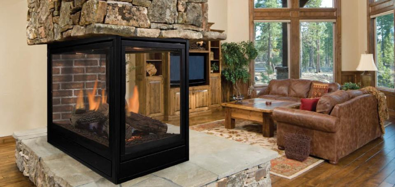 Beau Majestic Pearl Peninsula Gas Fireplace