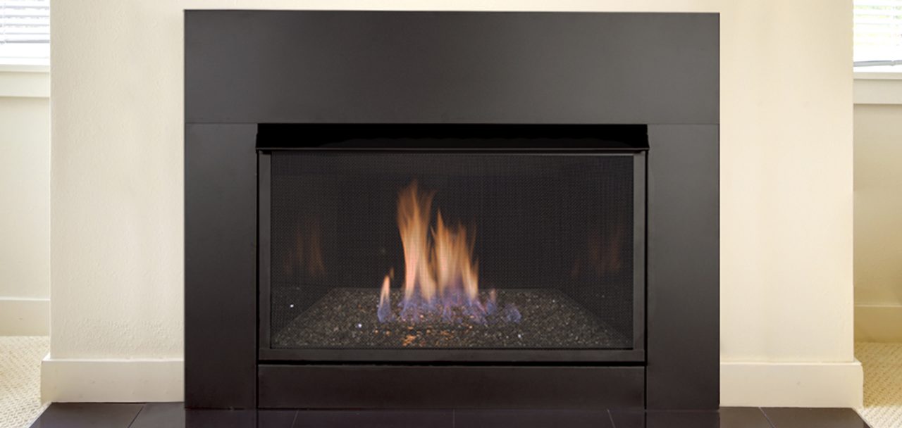 Monessen Solstice Contemporary Vent Free Gas Fireplace Insert Glass burner