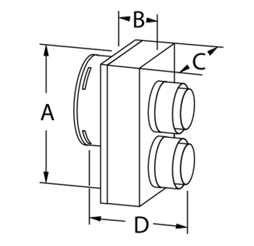 Co-Axial to Co-Linear Appliance Connector