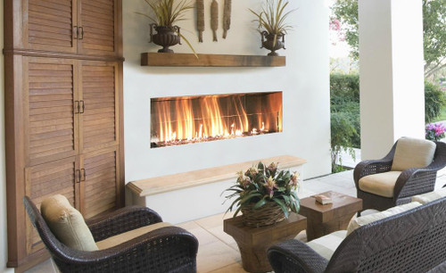 firegear kalea bay outdoor linear fireplaces single sided or see