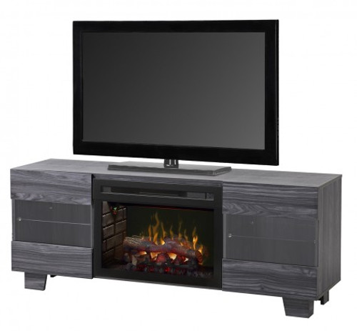Dimplex Max Electric Fireplace Media Console Carbon Finish