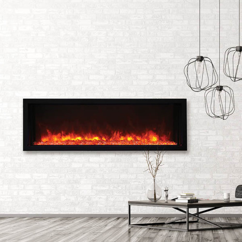 "Amantii BI-50-XTRASLIM – 50″ wide - 4"" deep - Extra Slim Electric Fireplace"