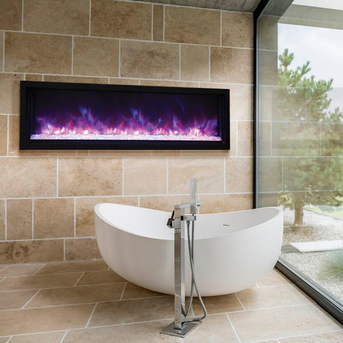 "Amantii BI-60-XTRASLIM – 60″ wide - 4"" deep - Extra Slim Electric Fireplace"