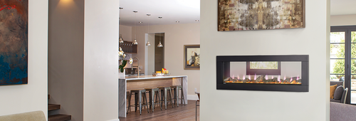 Clearion  Electric Fireplace With South Beach Logs & Glass Ember Bed