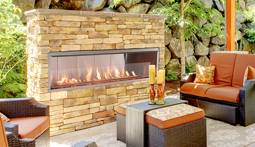 Superior VRE 4600 Outdoor Gas Fireplaces Single Sided & See Through