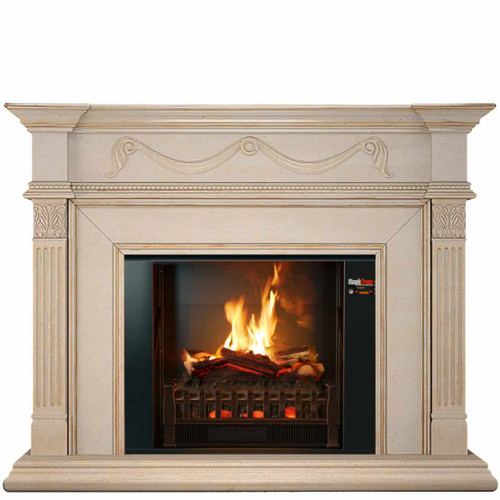 Aphrodite Electric Fireplace With Mantel. Featuring The Amazing HoloFlame Electric Fireplace From MagikFlame