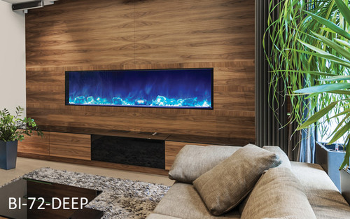 DISCOUNT AMANTI BI-72 DEEP BUILT IN ELECTRIC FIREPLACESS